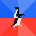 Socially Awkward and Awesome Penguin